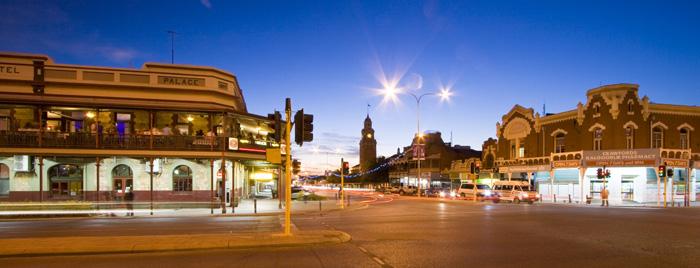 Kalgoorlie's central Hannan Street on a Friday night
