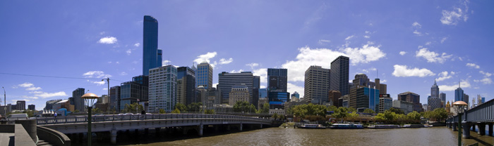 The city centre from the South Bank