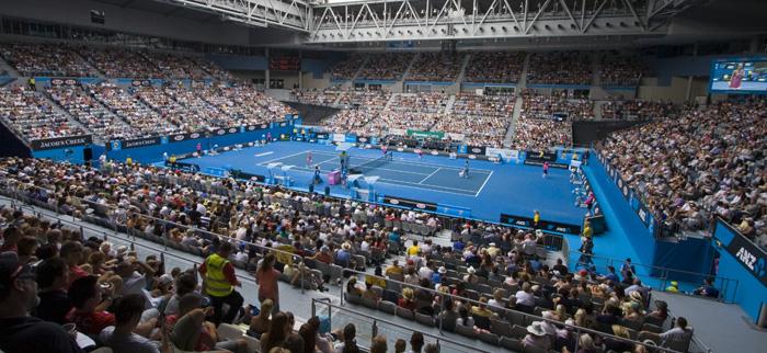 Jelena Jankovic playing Alona Bondarenko in the Hisense Arena