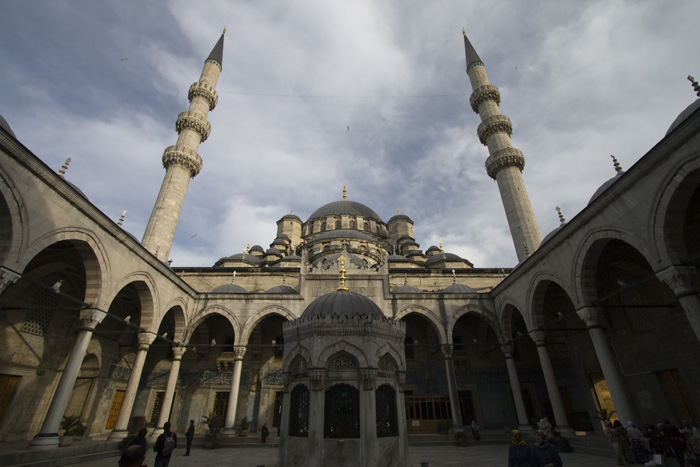 Yeni Camii mosque at the end of the Spice Bazaar
