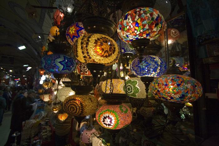Turkish lamps in the Grand Bazaar