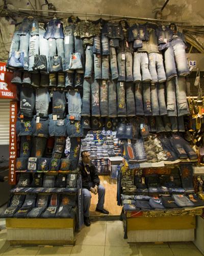 Jeans shop in the Grand Bazaar