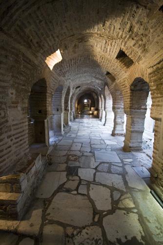 The crypt underneath the Church of Agios Dimitrios