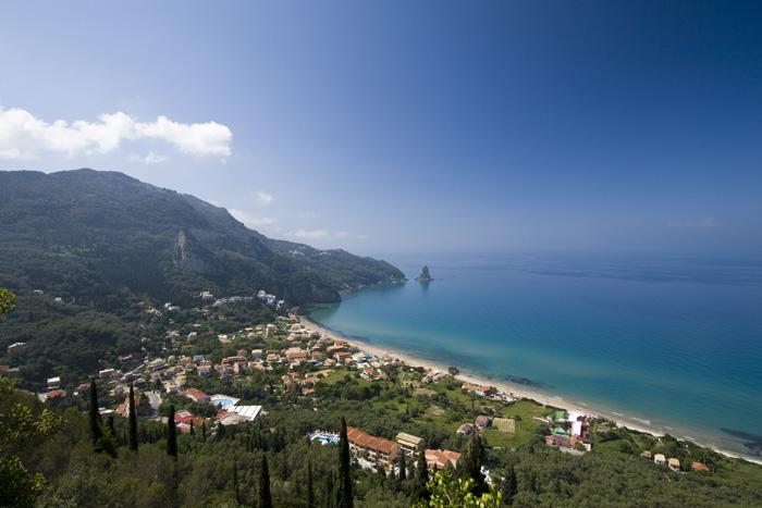 Agios Gordis on Kerkyra's west coast