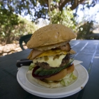 Surely one of the biggest hamburgers known to man at Drysdale Station