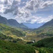 Looking down the valley toward Lao Chai and Ta Van