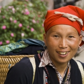 Red Dao people in Sapa