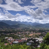 View of Luang Prabang from That Chomsi