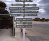 Stopping off at Eucla just west of the Western Australia/South Australia border