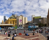 Panorama of Melbourne from Federation Square