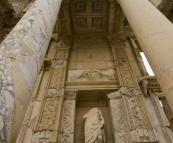 One of Ephesus' main attractions: the Library of Celsus