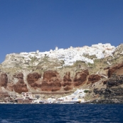 Ammoudi and the village of Oia above