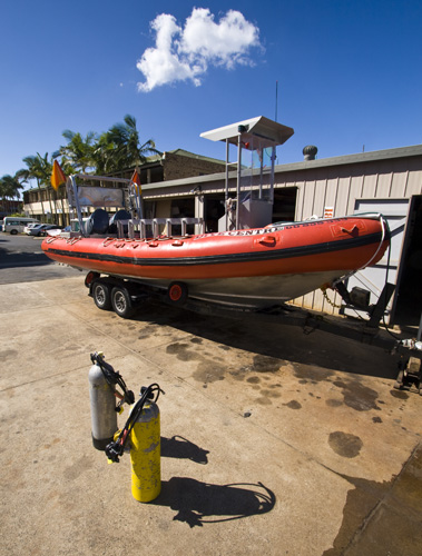 One of the dive boats we took to Julian Rocks