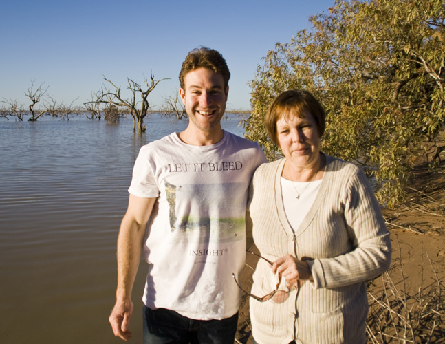 Todd and Judy at Lake Pamamaroo