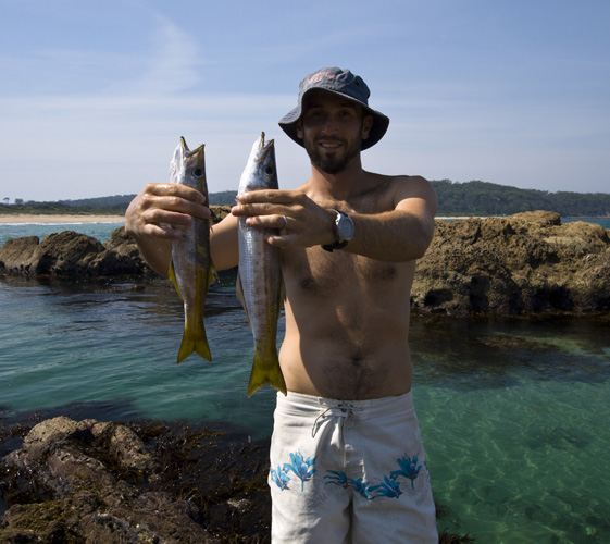 Sam with a couple of Sand Whiting at Tomakin