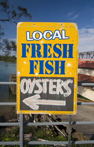 Fresh seafood from the harbour at Narooma