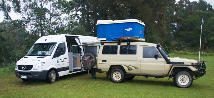 Camping in the rain in Kangaroo Valley