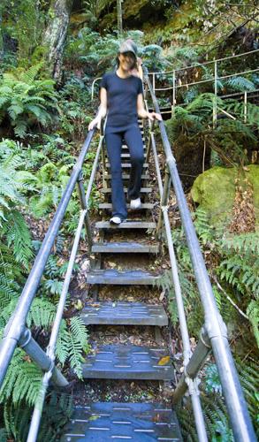 Jacque walking through Leura Forest