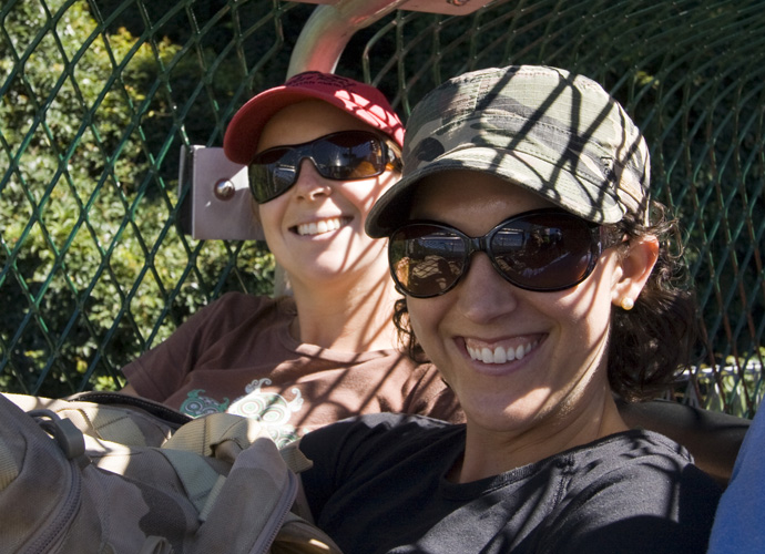 Lisa and Jacque on the Scenic Railway