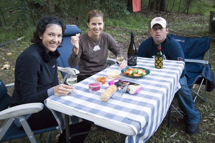 Jacque, Lisa and Larrid at Euroka in Blue Mountains National Park