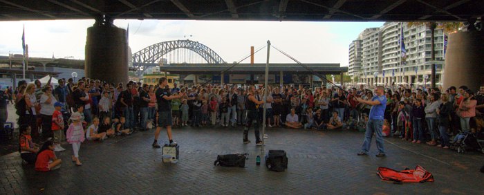 Street performers in Circular Quay