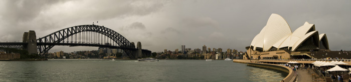 The Sydney Harbour Bridge and Opera House