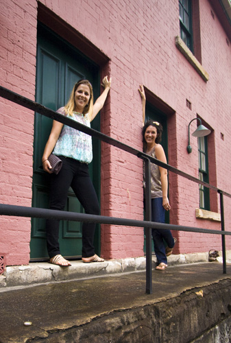 Lisa and Jacque in The Rocks