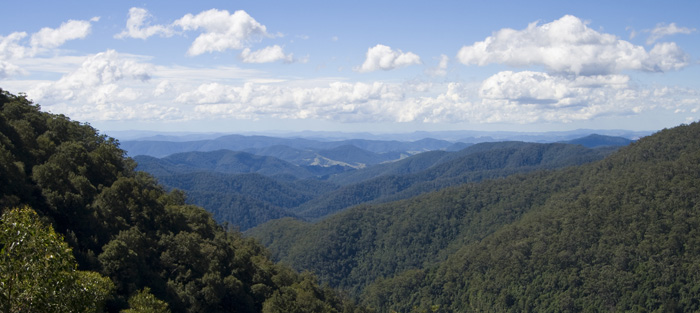The view toward the coast from Gloucester Tops in Barrington Tops National Park