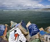 The V-Wall Rock Art Gallery in Nambucca Heads