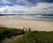The beach in front of our campsite at Lake Arragan in Yuraygir National Park