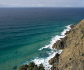 Amazing turquoise water below Cape Byron