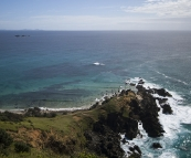 Cape Byron with Julian Rocks in the distance