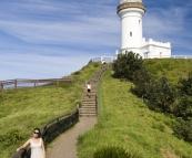 Lisa on Cape Byron
