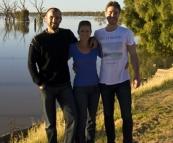 Sam, Lisa and Todd at Lake Wetherell