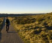 Lisa walking from Eagles Nest to Mount Kosciuszko