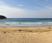 One of the many beautiful beaches near Tomakin