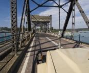 Crossing the bridge at Narooma