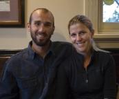 Sam and Lisa at the Old City Bank pub in Katoomba