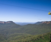 The cable car in Scenic World in Katoomba