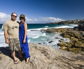 Jarrid and Jacque near Tamarama Beach on the walk between Bondi and Bronte