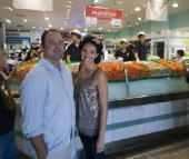 Jarrid and Jacque at the Sydney Fish Market