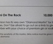 The most expensive cocktail I've ever seen!