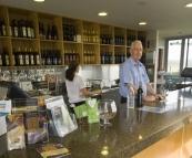 Lisa tasting at Adina Winery