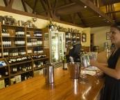 Lisa tasting at McWilliams Mount Pleasant Winery