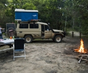 Camping in the dunes at Hat Head National Park