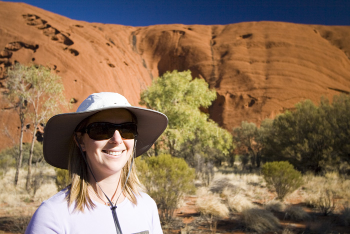 Lisa at Uluru