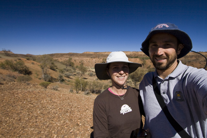 A self-portrait at the Henbury meteorite crater