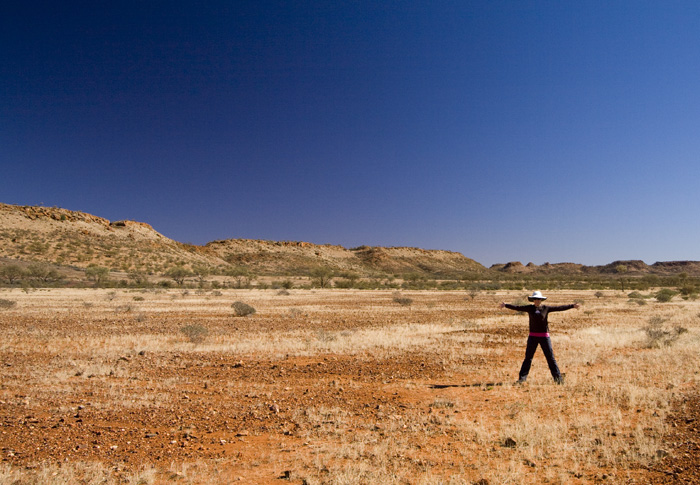Lisa on the way out of Henbury Meteorite Conservation Park
