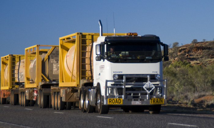 One of the many road trains we passed on the Stuart Highway