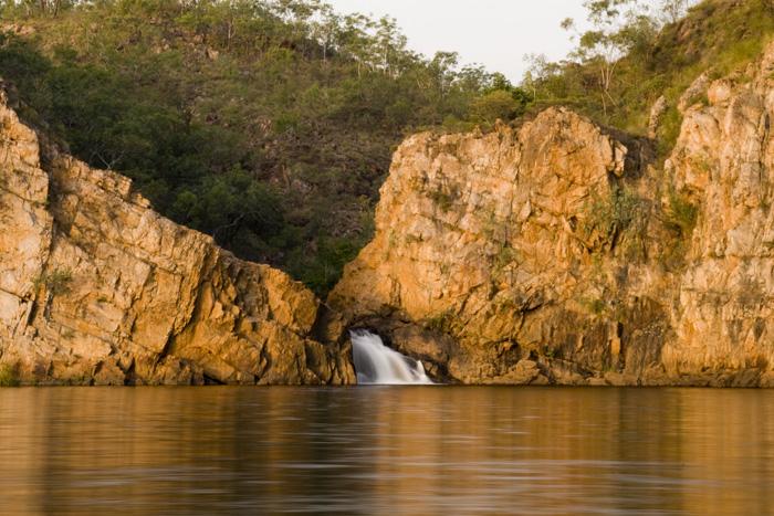 The lower falls at Leliyn (Edith Falls)
